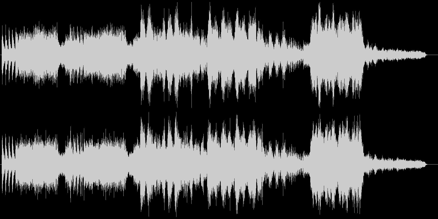 「バトロワ」などでお馴染のオーケストラ曲の未再生の波形