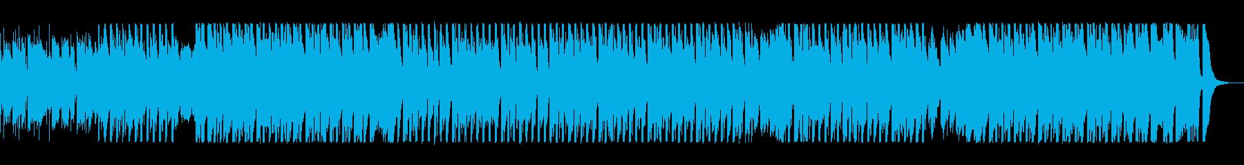 映像に合う疾走感のあるエレクトロの再生済みの波形