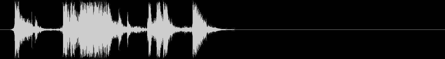 チャリンとガラスの破片が触れる音 26の未再生の波形