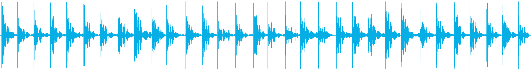 走る足音・スニーカー・硬い床・ループ再生の再生済みの波形