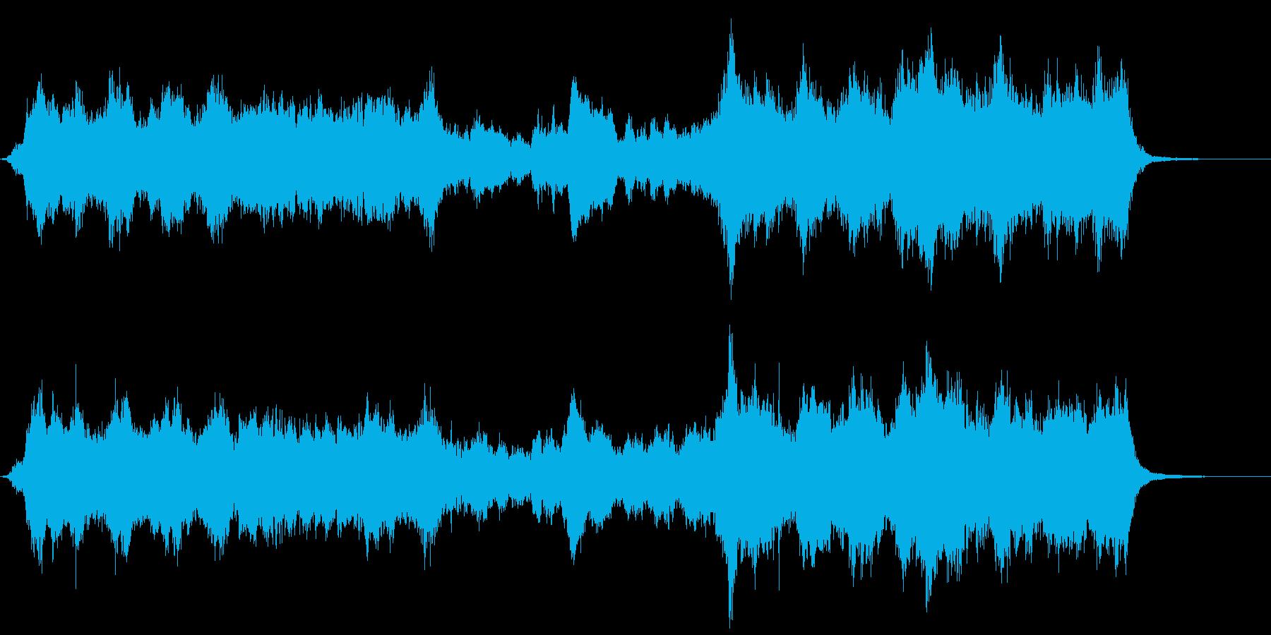 ドラマチックで幻想的なオーケストラ曲の再生済みの波形
