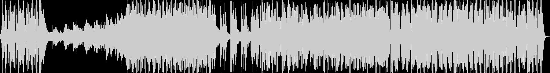 様々な展開のある疾走感のエレクトロ楽曲の未再生の波形