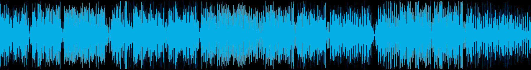 ポップでかわいい、キラキラな曲ループ仕様の再生済みの波形