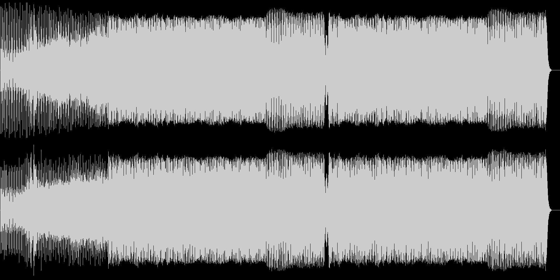 ザラザラしたサウンドが特徴のミニマル風の未再生の波形
