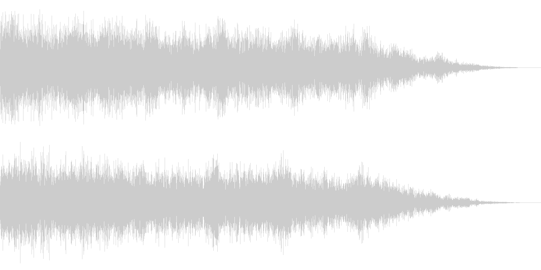 ホラー系アタック音19の未再生の波形