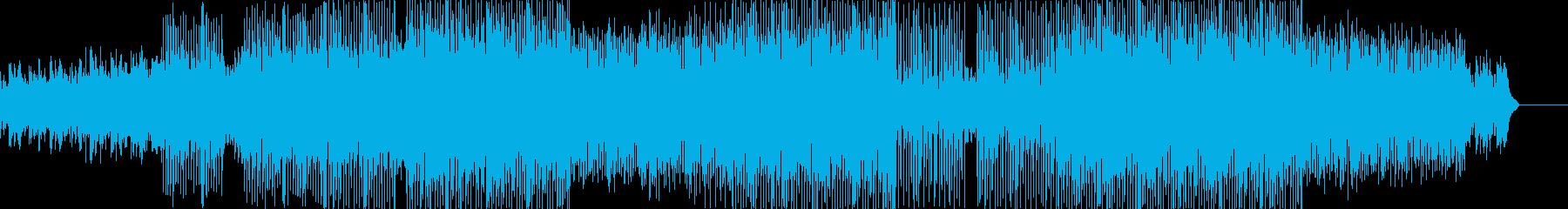 爽やかで疾走感のあるテクノポップの再生済みの波形