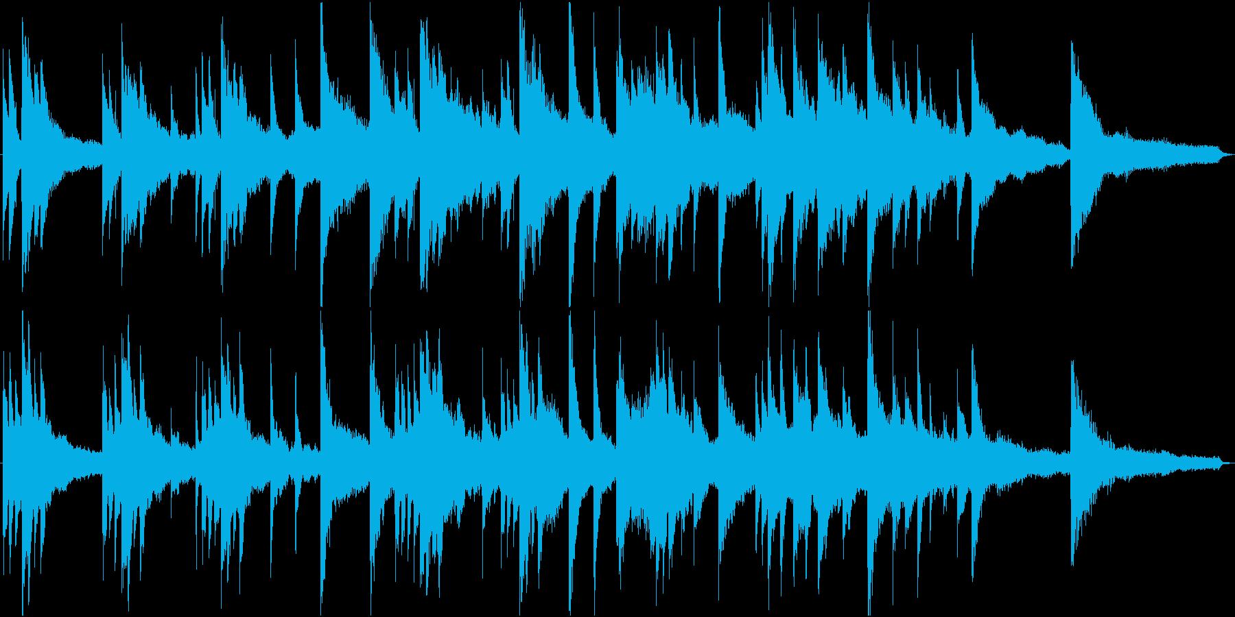 CM・企業VP用、59秒のピアノ楽曲の再生済みの波形