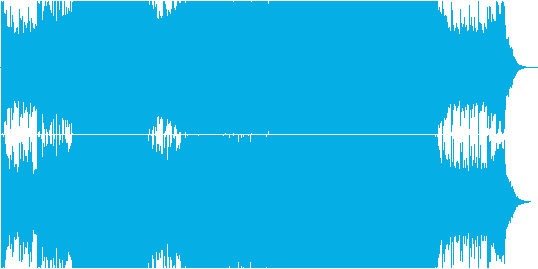 アップテンポ系Future Bassの再生済みの波形