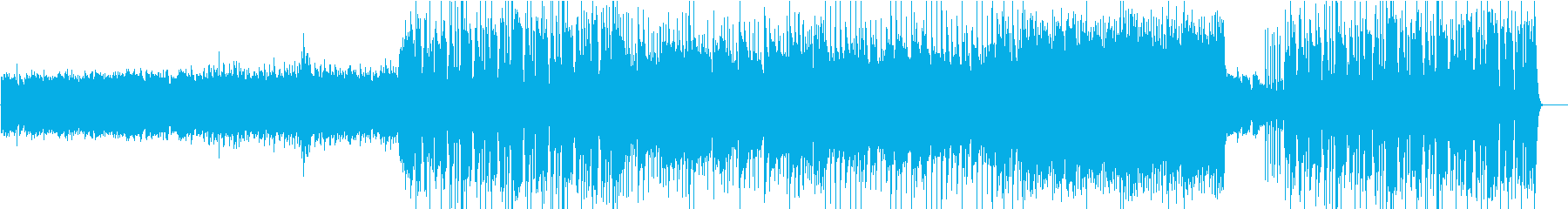 5拍子のプログレ風ギターインストの再生済みの波形