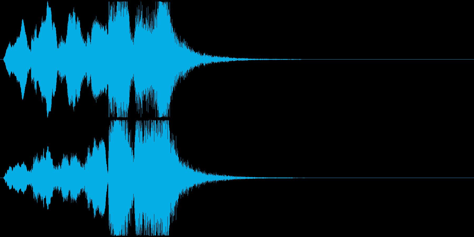 18 ホルン中心の短いファンファーレの再生済みの波形