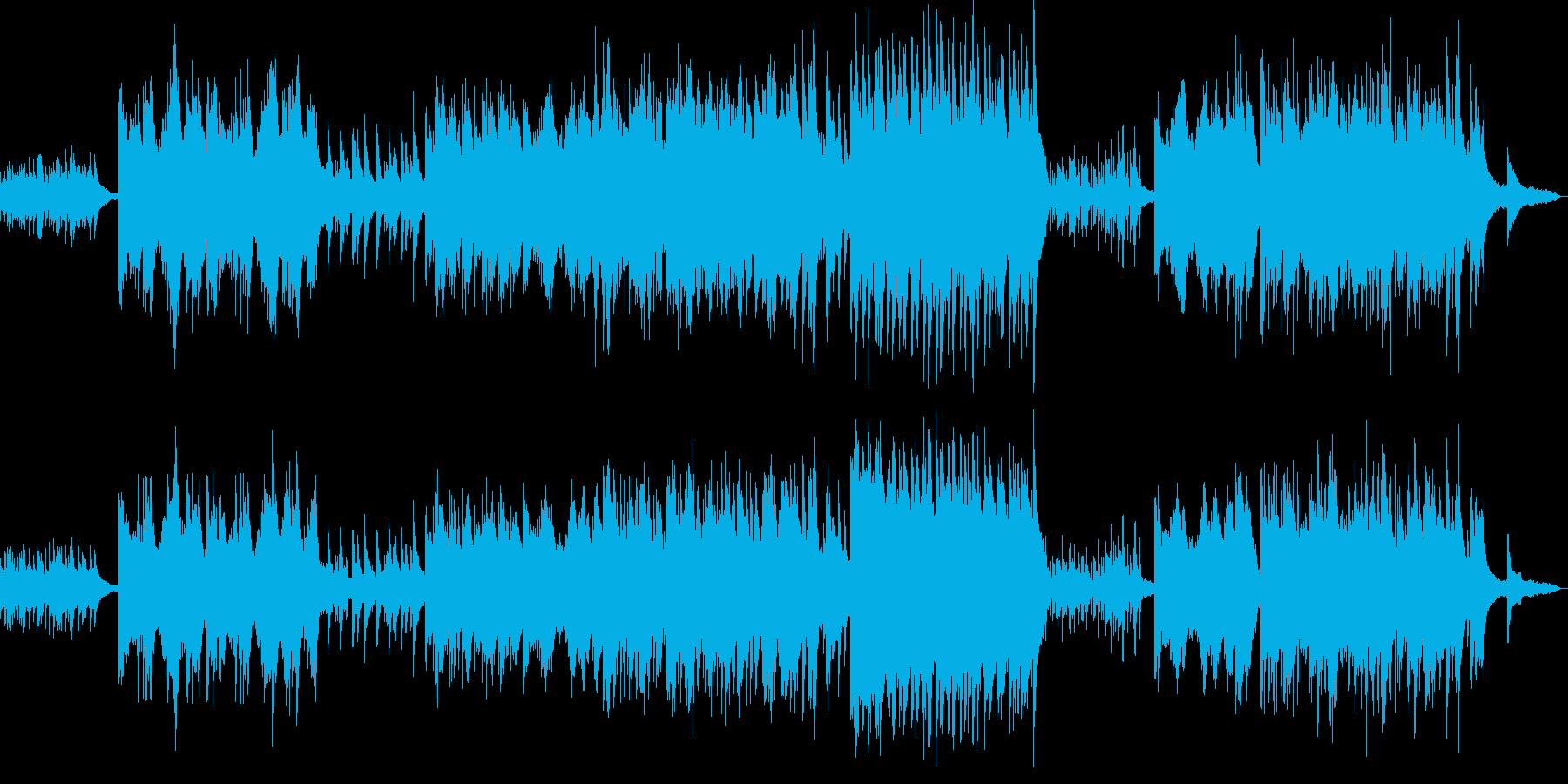 感傷的なピアノソロの再生済みの波形