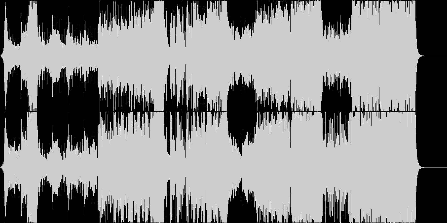 重い雰囲気のオーケストラの未再生の波形