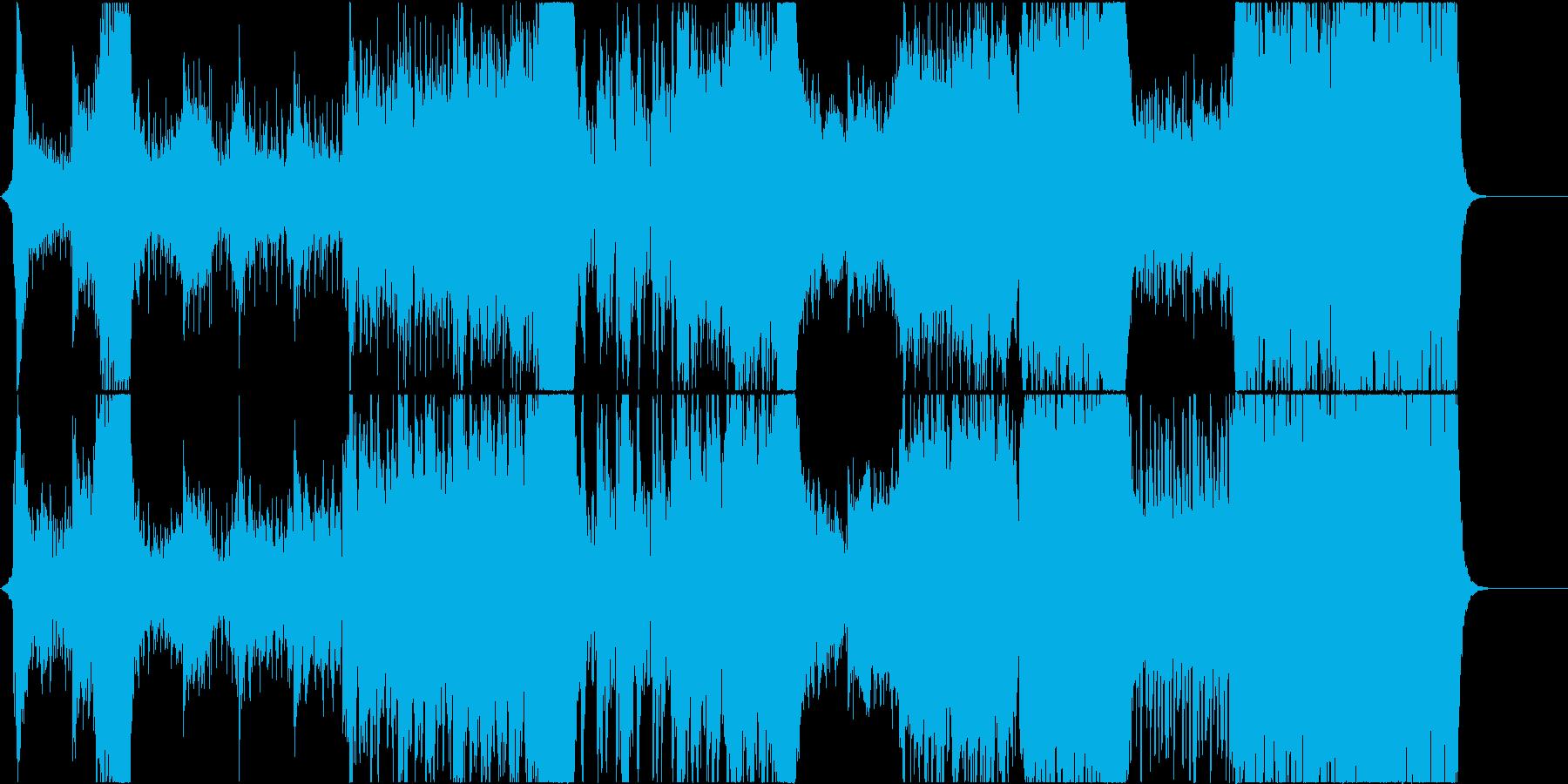重い雰囲気のオーケストラの再生済みの波形