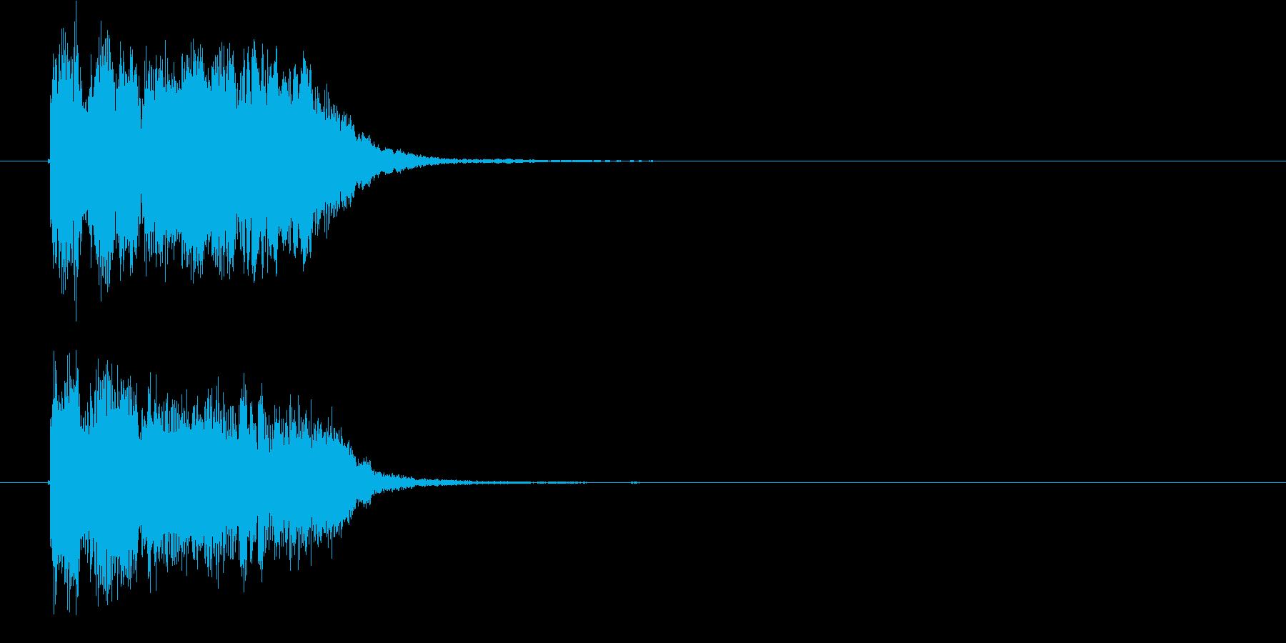 軽快でポップな英語の声入りジングルの再生済みの波形