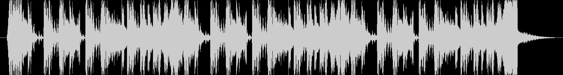 ブレイクビート系ラジオのジングルの未再生の波形
