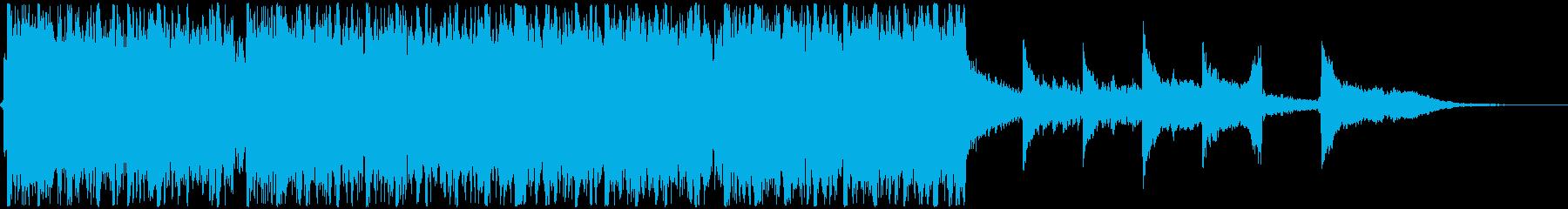 荘厳な合唱と優しいシネマチック60秒の再生済みの波形