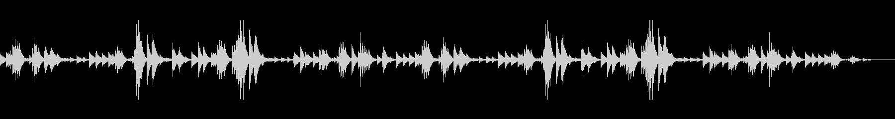 眠気を誘うピアノアンビエント(シンプル)の未再生の波形