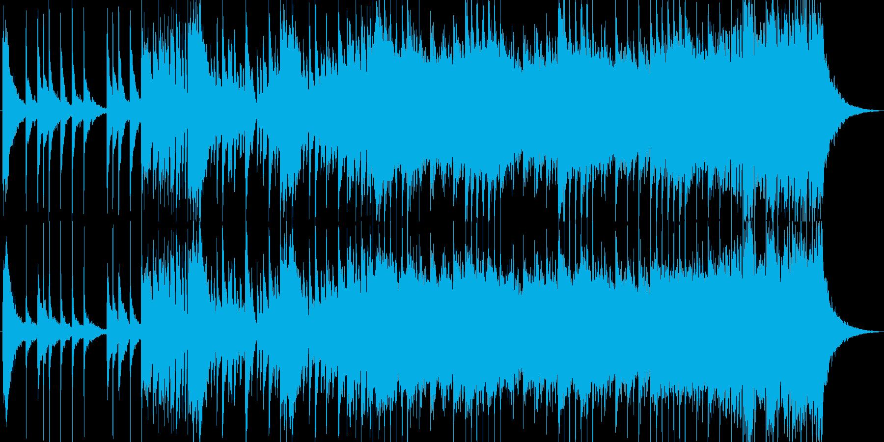 元気な和風ギターテクノロックのんの再生済みの波形