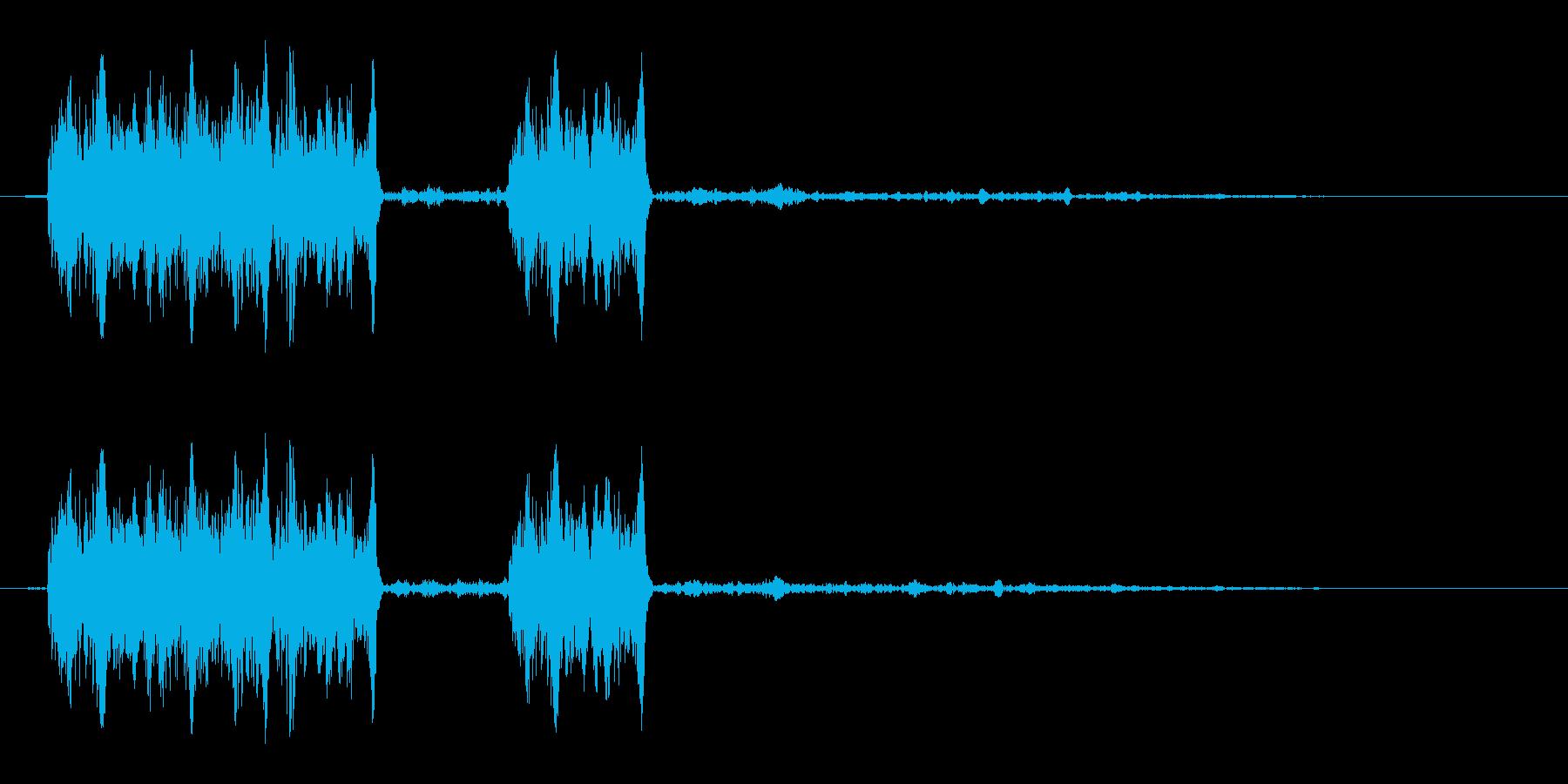 ギュギュッ(ダメージ音)の再生済みの波形