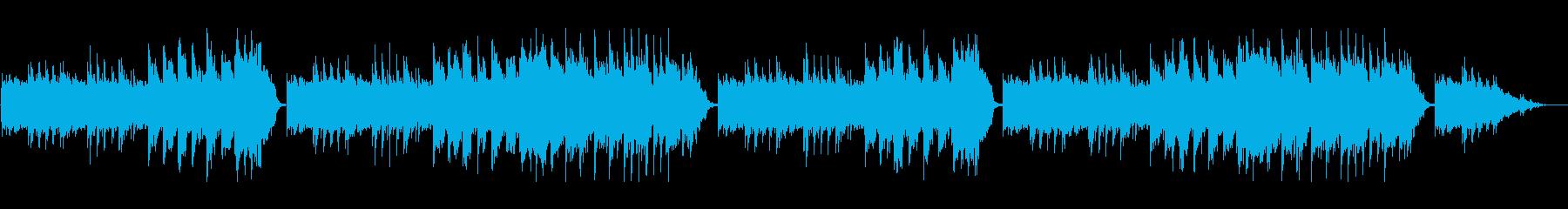 音が響き渡る洞窟の中の再生済みの波形