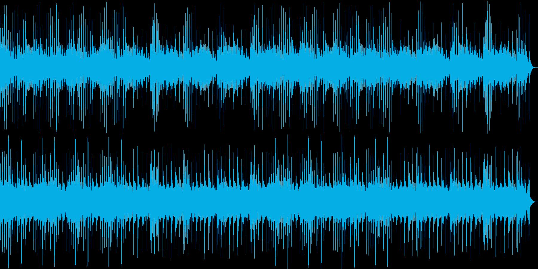 ピアノのゆったりとしたリラックス曲の再生済みの波形