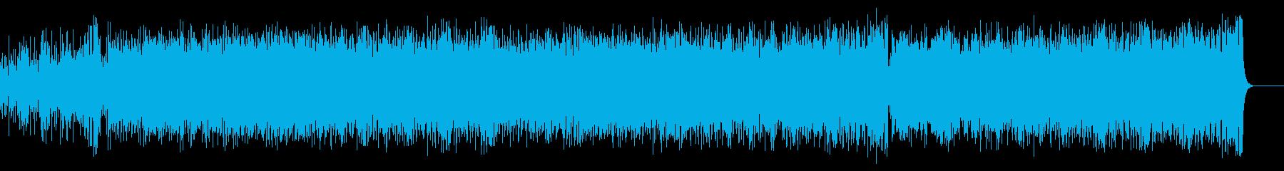 パーカッシブで豪華なピアノ・フュージョンの再生済みの波形