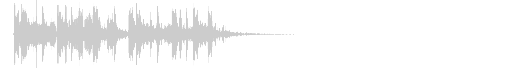 クールなテクノ調のジングル、サウンドロゴの未再生の波形
