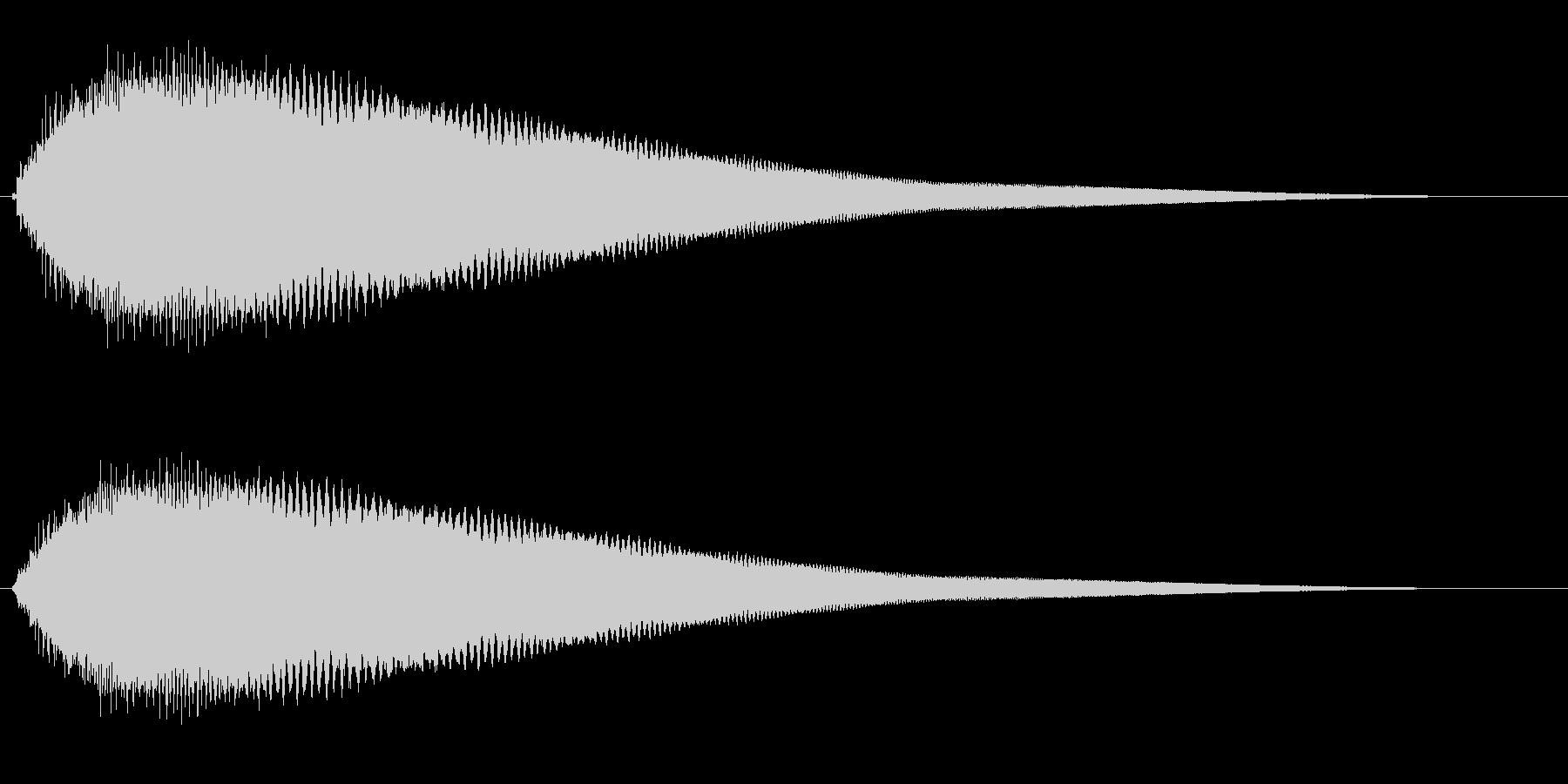 キュオーン(ワープ効果または警告音)の未再生の波形