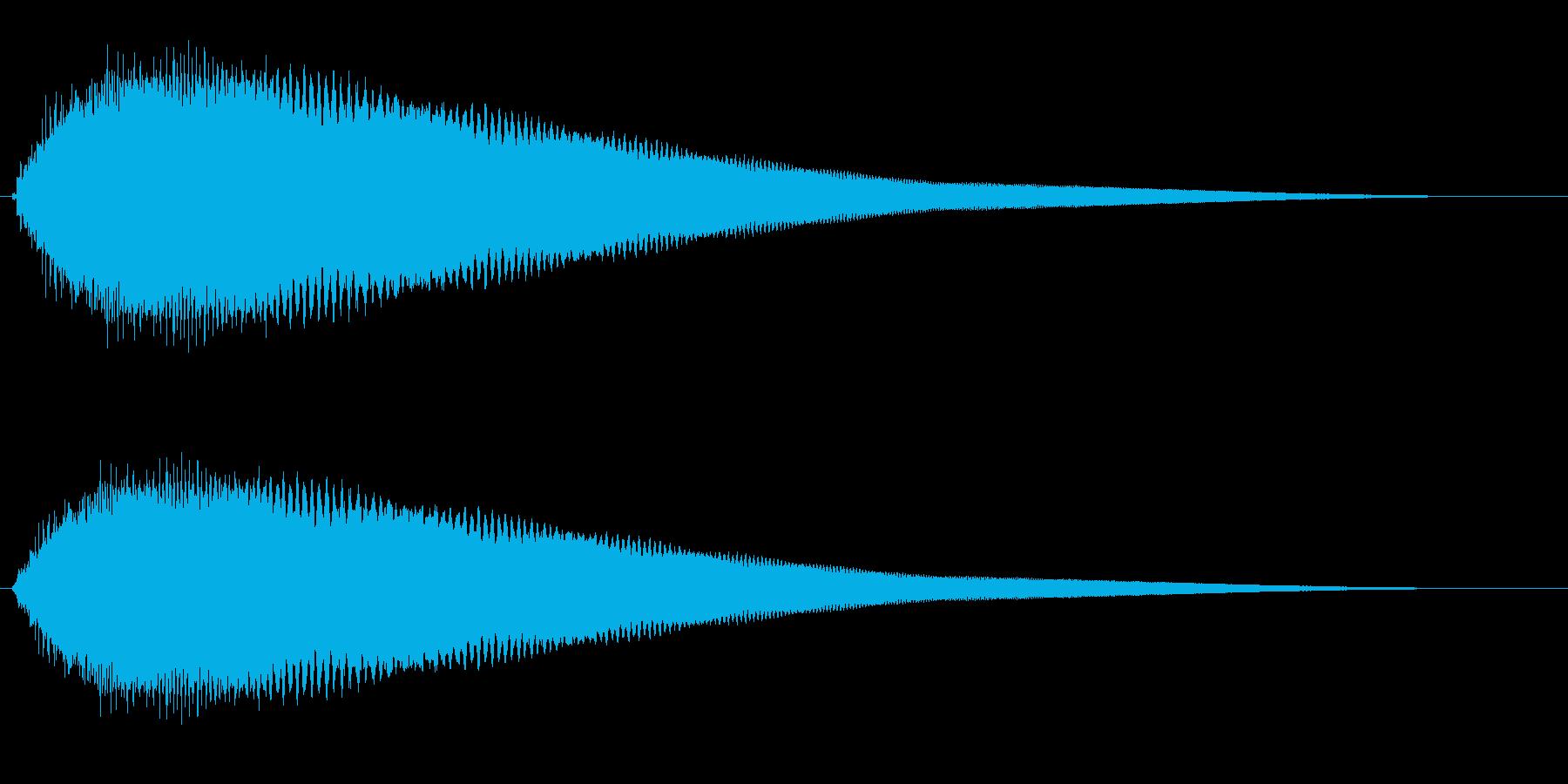 キュオーン(ワープ効果または警告音)の再生済みの波形