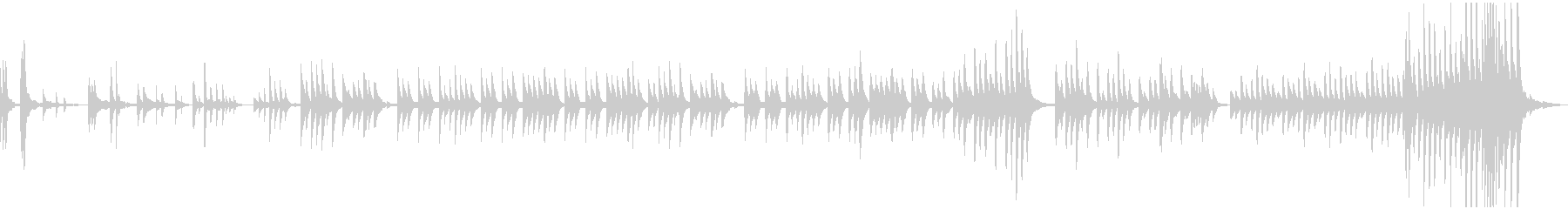 ゆっくり、せつない感じのピアノBGMの未再生の波形