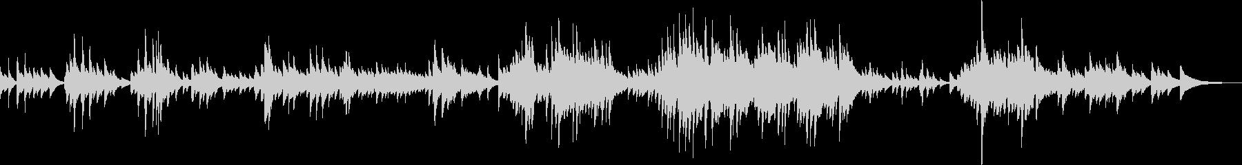 切なくて優しいピアノ曲(温かい、感動的)の未再生の波形