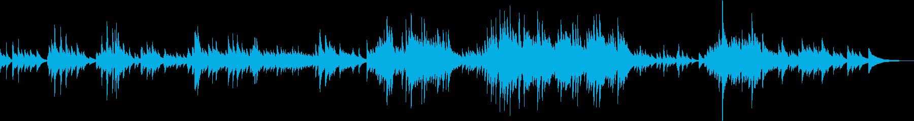 切なくて優しいピアノ曲(温かい、感動的)の再生済みの波形