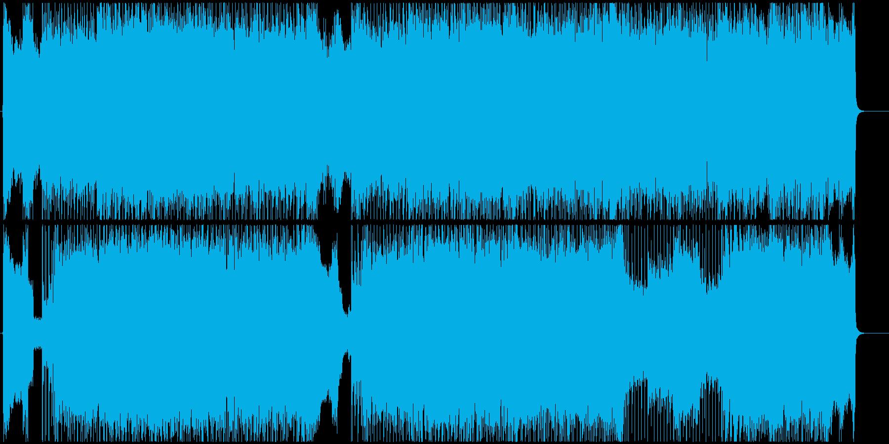 ハードロックなギターインストの再生済みの波形