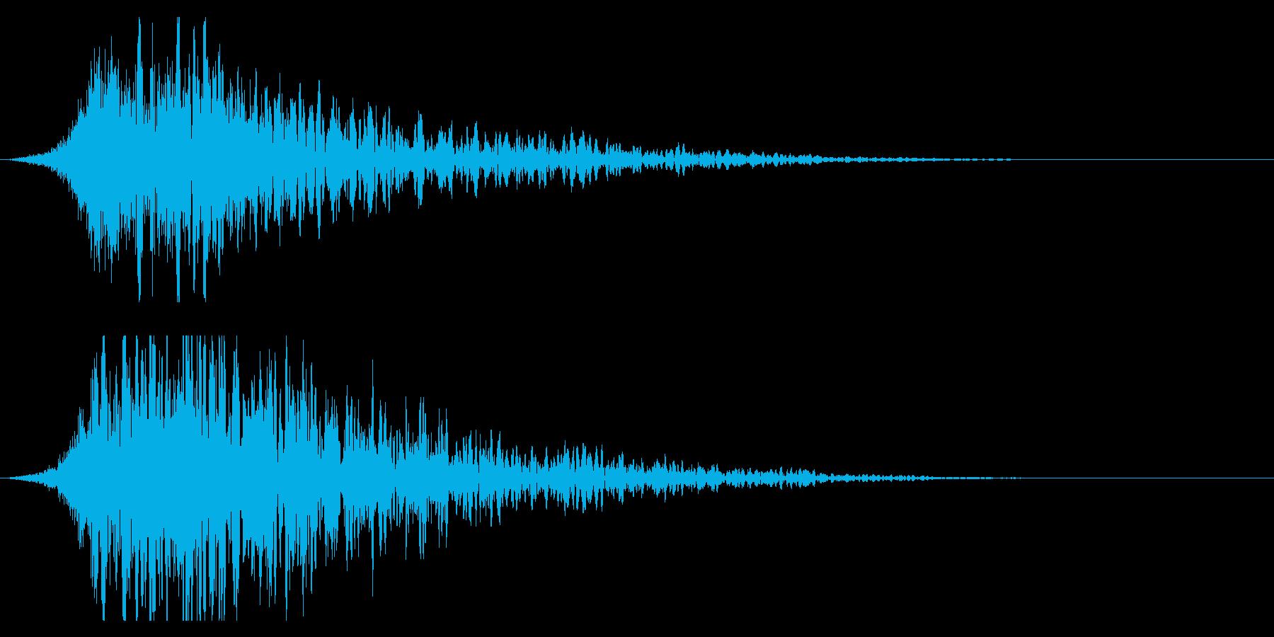 シュードーン-18-2(インパクト音)の再生済みの波形