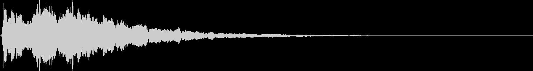 ピン:アニメや漫画で閃く時の音5の未再生の波形