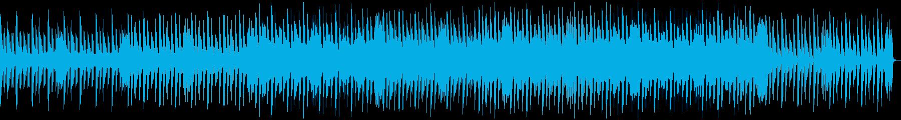 おしゃれ切ない4つ打ちBGMの再生済みの波形