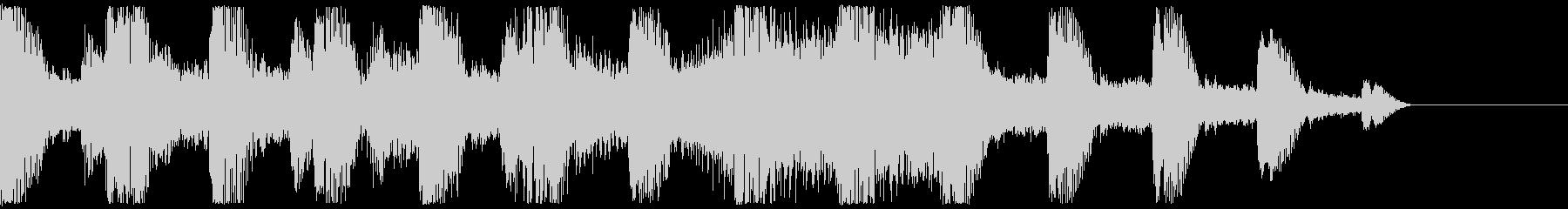 蝉の声 日本の夏 サウンドロゴの未再生の波形