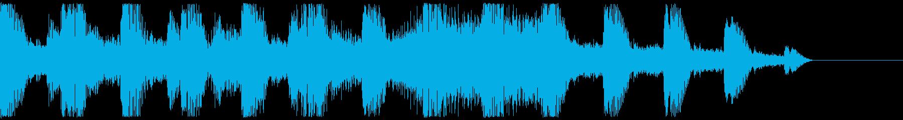 蝉の声 日本の夏 サウンドロゴの再生済みの波形