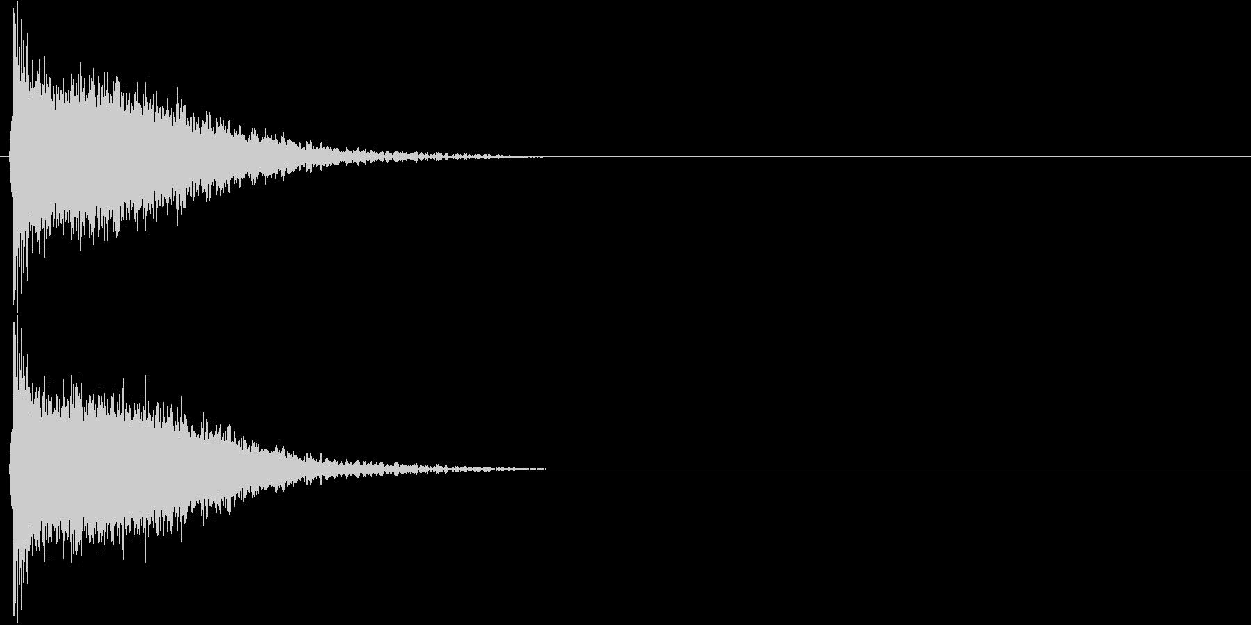 強いインパクトのある音[キュイーン]2の未再生の波形