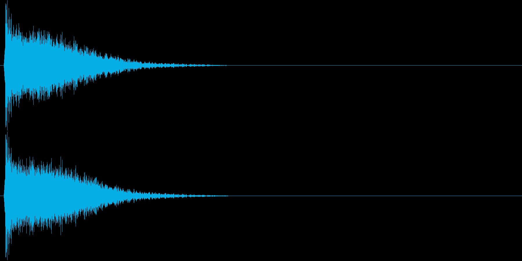 強いインパクトのある音[キュイーン]2の再生済みの波形
