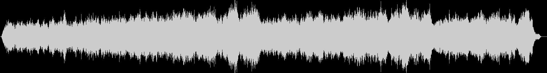 雄大な山のようなヒーリングミューッジックの未再生の波形