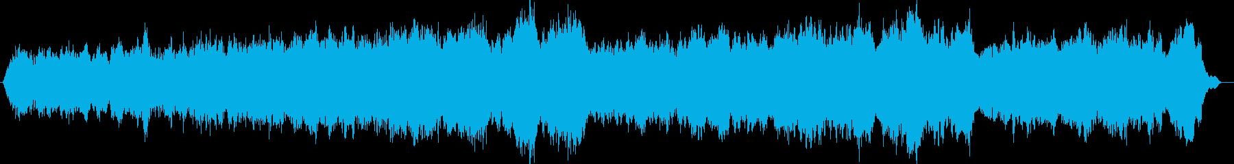 雄大な山のようなヒーリングミューッジックの再生済みの波形