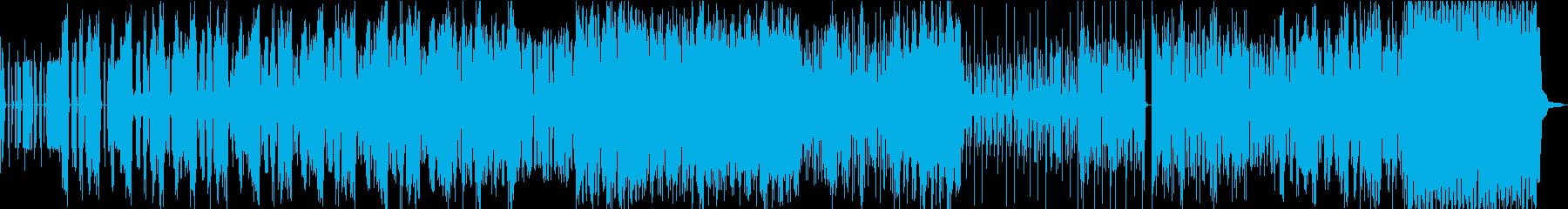 盛り上がりの大きいダブステップの再生済みの波形