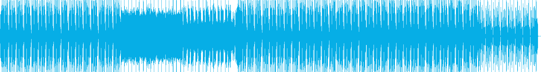 明るいポジティブなエレクトロBGMの再生済みの波形