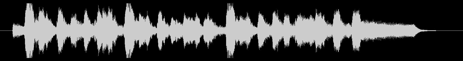 フルートとピアノによるオシャレなジングルの未再生の波形
