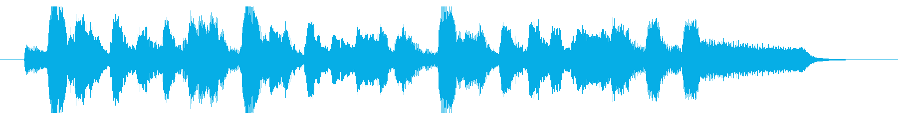 フルートとピアノによるオシャレなジングルの再生済みの波形