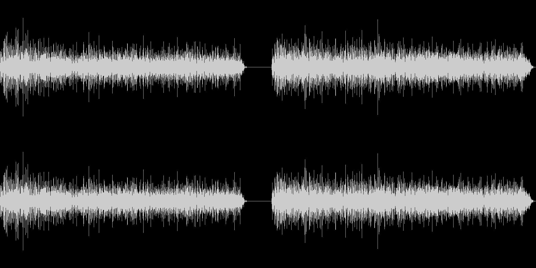 神楽鈴(小)を強く振りつづける音の未再生の波形