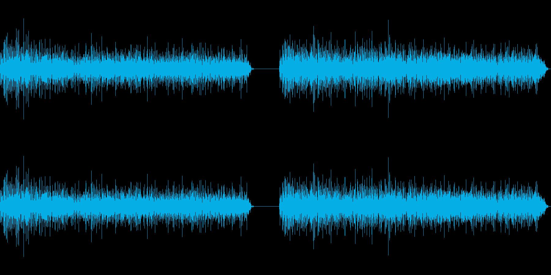神楽鈴(小)を強く振りつづける音の再生済みの波形
