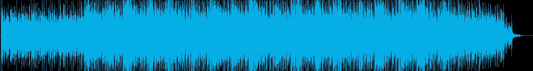 緊迫感・映像・解説・ナレーション用の再生済みの波形
