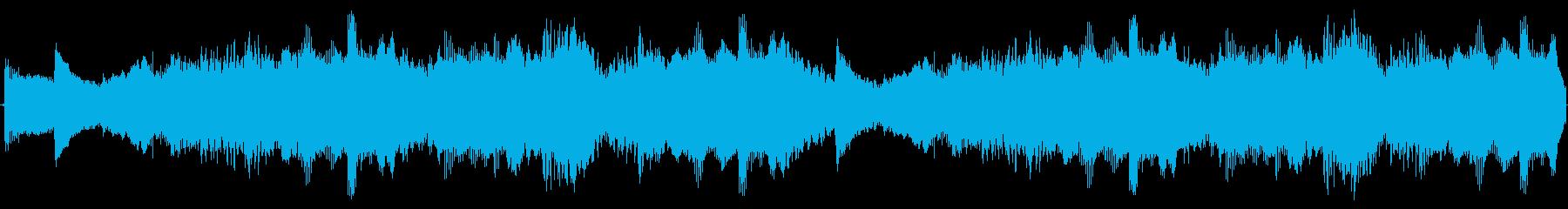 ダークファンタジーなストリングスとハープの再生済みの波形